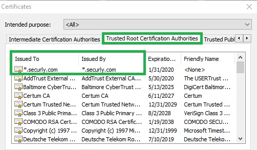 How to manually install the Securly SSL certificate in
